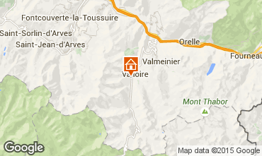 Map Valloire Chalet 23134