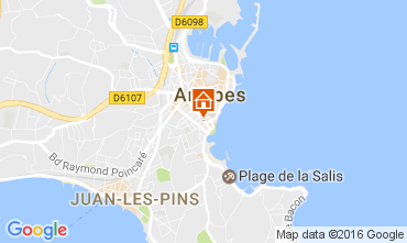 Map Antibes Apartment 107452