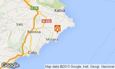 Map Moraira Villa 49775