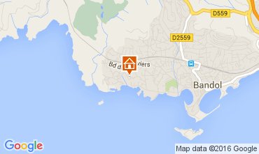 Map Bandol One-room apartment 105645