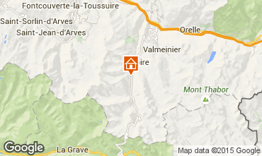 Map Valloire Apartment 3412