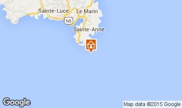 Map Sainte Anne (Martinique) One-room apartment 78983