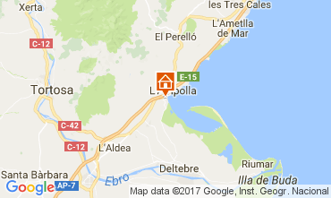 Map L'ampolla Chalet 112776