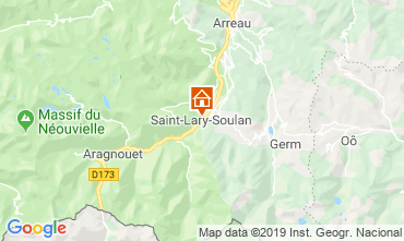 Map Saint Lary Soulan Apartment 40885