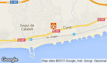 Map Calafell Apartment 61392
