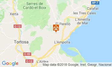 Map L'ampolla Villa 117460