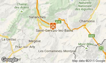 Map Saint Gervais Mont-Blanc One-room apartment 2546