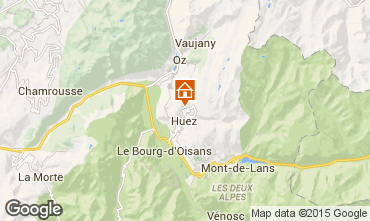 Map Alpe d'Huez Apartment 92