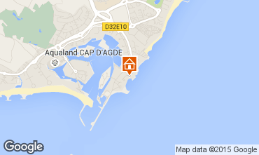 Map Cap d'Agde Apartment 100464