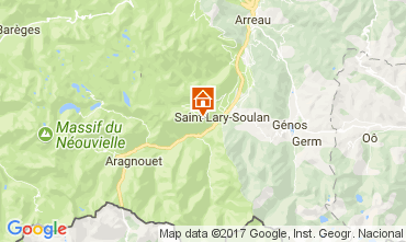 Map Saint Lary Soulan Apartment 112253