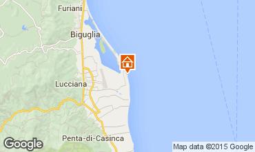 Map Lucciana Villa 100799