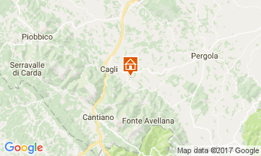 Map Cagli Apartment 86123