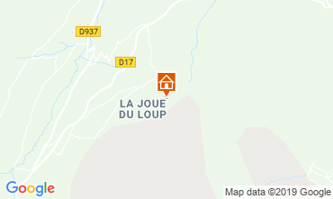Map Superdévoluy- La Joue du Loup Apartment 112558
