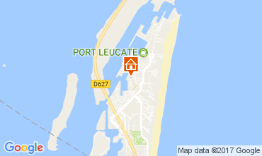 Map Port Leucate One-room apartment 6310