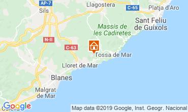 Map Lloret de Mar Villa 117948