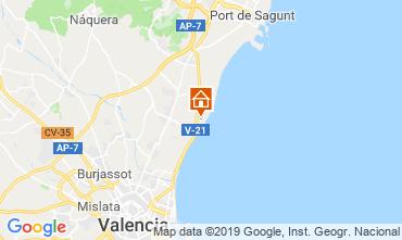 Map Valencia Apartment 117723