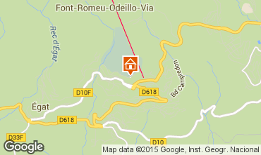 Map Font Romeu Apartment 4136