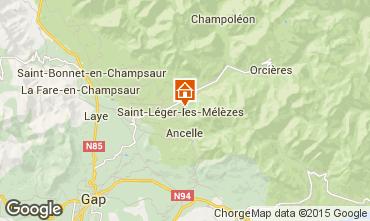 Map Saint Léger les Mélèzes Apartment 102084