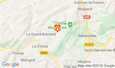 Map Le Grand Bornand Chalet 110705