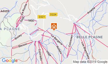 Map La Plagne Chalet 114024