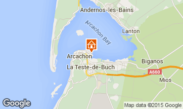 Map Arcachon One-room apartment 6610