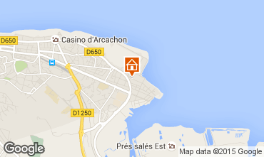 Map Arcachon One-room apartment 6610