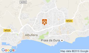 Map Albufeira Apartment 106350