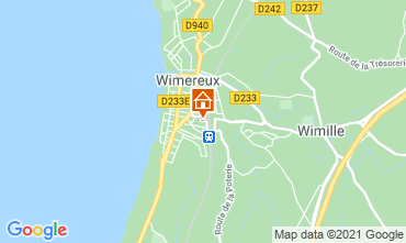 Map Wimereux Vacation rental 95721