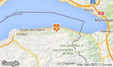 Map Thollon Les Mémises Apartment 39863