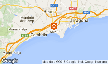 Map Salou Apartment 9658