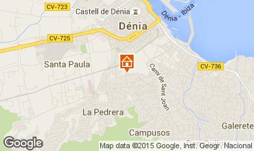 Map Denia Apartment 75156
