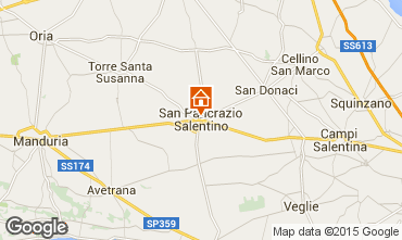 Map Porto Cesareo Apartment 81073