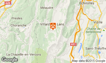 Map Villard de Lans - Corrençon en Vercors Vacation rental 3696