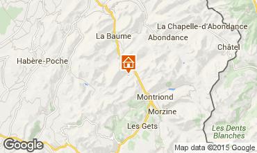 Map Saint Jean d'Aulps- La Grande Terche One-room apartment 43163