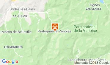 Map Pralognan la Vanoise Apartment 38850