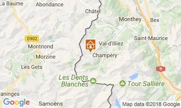 Map Les Crosets Apartment 33579