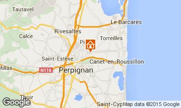 Map Perpignan One-room apartment 83412