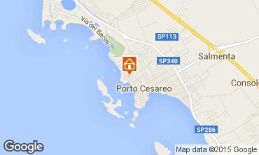 Map Porto Cesareo Apartment 70791