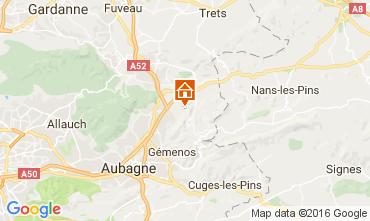 Map Auriol Vacation rental 88967
