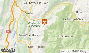 Map Alpe du Grand Serre One-room apartment 58119