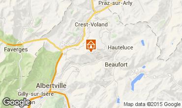 Map Les Saisies Apartment 2740