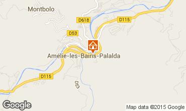 Map Amélie-Les-Bains Apartment 77054