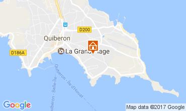 Map Quiberon Apartment 107688
