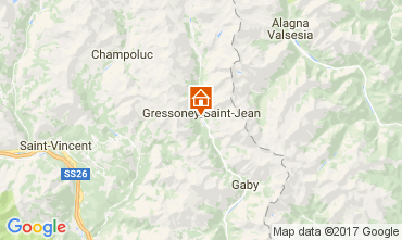 Map Gressoney Saint Jean One-room apartment 110114