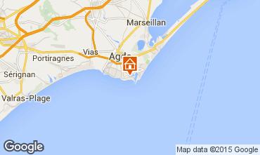 Map Cap d'Agde Apartment 40866