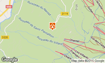 Map Les Arcs Chalet 213