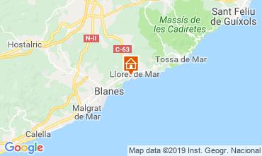 Map Lloret de Mar Apartment 57226