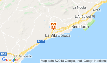 Map Benidorm Villa 97736