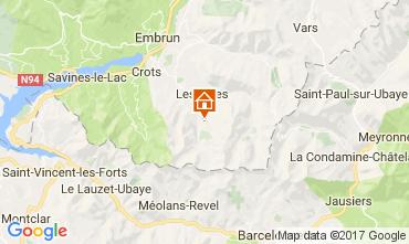 Map Les Orres Apartment 111707