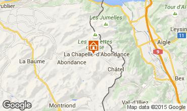 Map La Chapelle d'Abondance Apartment 80446